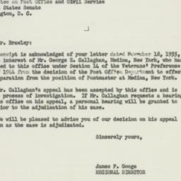 Letter : 1955 November 25