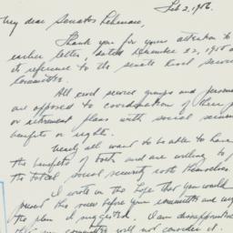 Letter : 1956 February 2