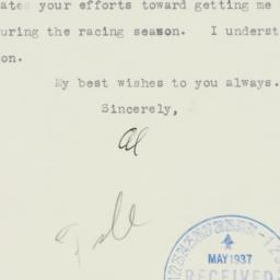 Letter : 1937 May 24