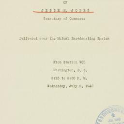 Speech: 1942 July 8