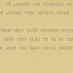 Telegram : 1945 September 14