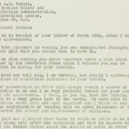 Letter : 1947 March 28