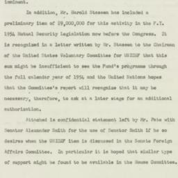 Memorandum : 1953 May 21