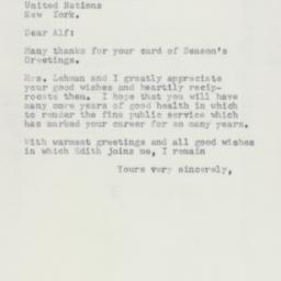 Letter : 1954 December 23