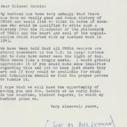 Letter : 1961 April 15