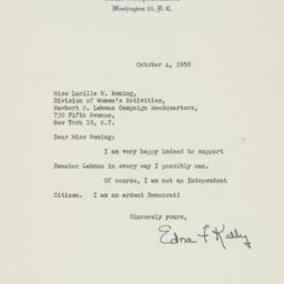 Letter : 1950 October 4