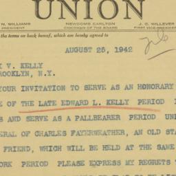 Telegram : 1942 August 25