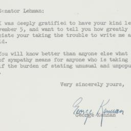 Letter : 1959 November 11