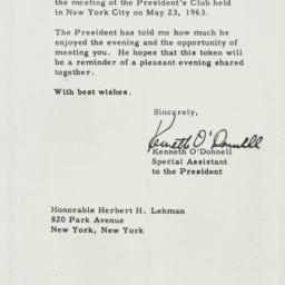 Certificate : 1963 November 8