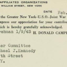 Ephemera: 1943 February 3