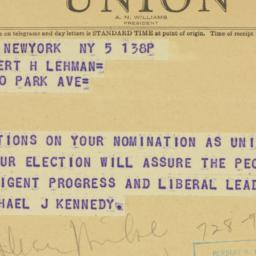 Telegram : 1946 September 5