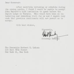 Letter : 1962 November 15