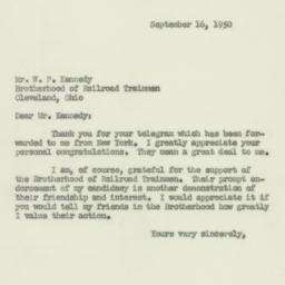 Letter : 1950 September 16