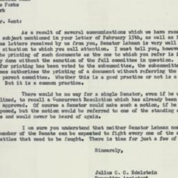 Letter: 1956 February 23