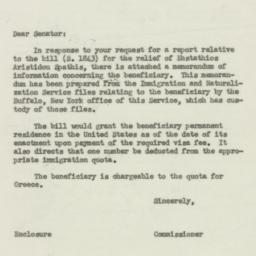 Letter : 1955 August 9