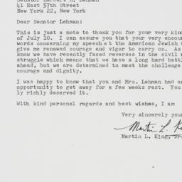 Letter : 1958 August 15