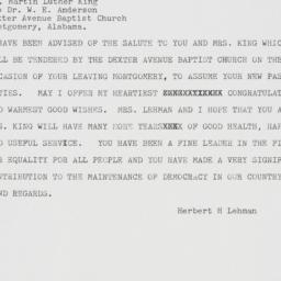 Letter : 1960 January 30