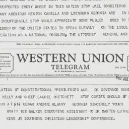 Telegram: 1962 July 30