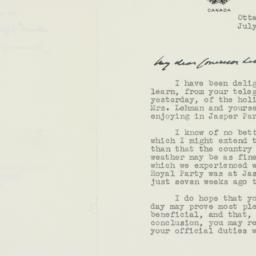 Letter : 1939 July 21