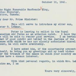 Letter : 1941 October 15