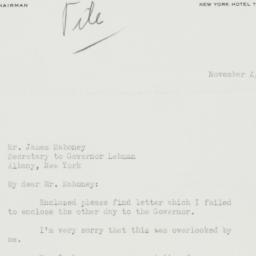 Letter : 1942 November 4