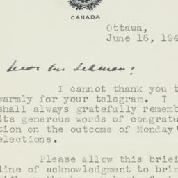 Letter : 1945 June 16