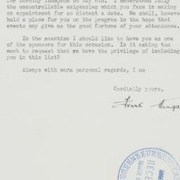 Letter : 1941 March 25