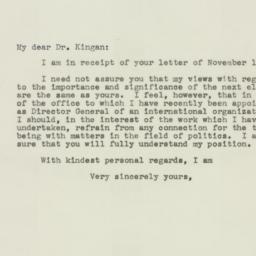Letter : 1943 December 6