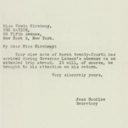 Letter : 1944 March 28