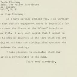 Letter : 1947 October 10