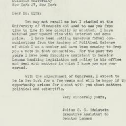 Letter: 1951 October 26