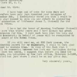 Letter: 1951 December 10