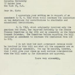 Letter : 1952 May 28