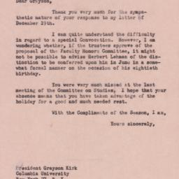 Letter : 1957 December 30