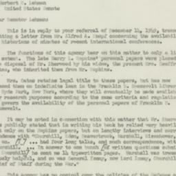 Letter : 1949 December 20