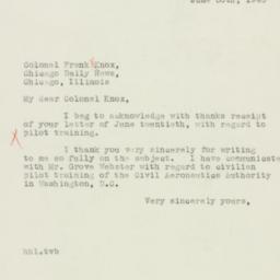 Letter : 1940 June 30