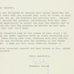 Letter : 1959 June 1