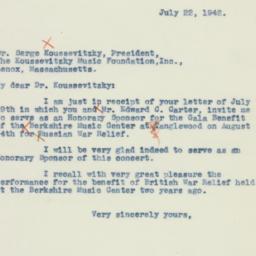 Letter : 1942 July 22