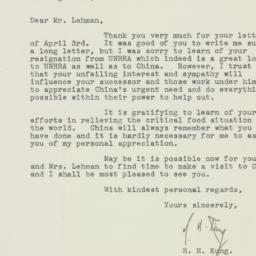 Letter : 1946 May 9