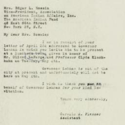 Letter : 1948 April 30