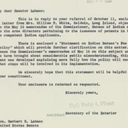 Letter : 1955 October 21