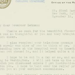 Letter: 1935 November 15