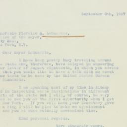 Letter : 1937 September 8