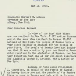 Letter : 1936 May 18
