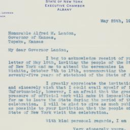 Letter : 1936 May 25