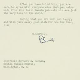 Letter : 1951 January 2