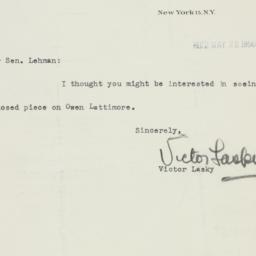 Letter: 1950 May 22