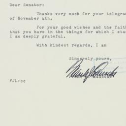 Letter : 1954 November 9