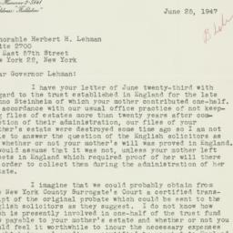 Letter : 1947 June 25