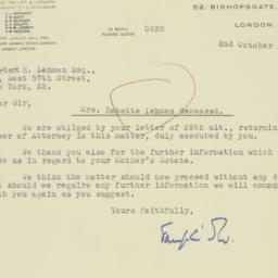 Letter : 1947 October 2